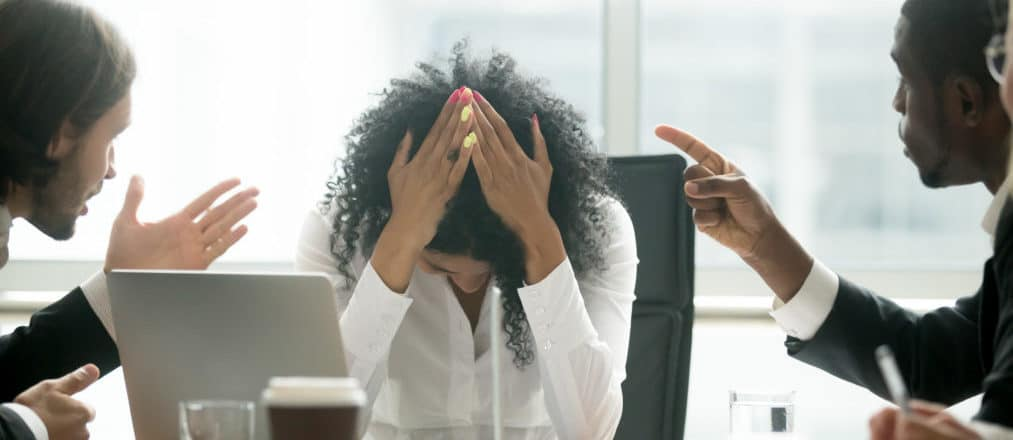 Stressed I.T. Worker Cybersecurity in business